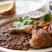 Charbroiled Chicken with Beans