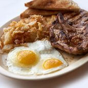 Pork Chops & Eggs